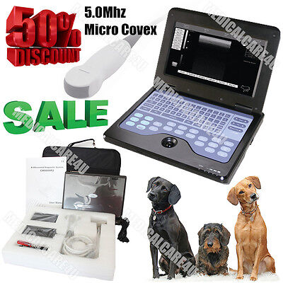 Contec Usa Newest Veterinary Laptop Ultrasound Scanner Machine 5.0m Micro Convex