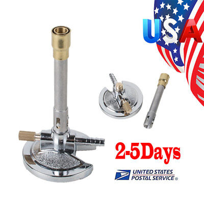 New Adjustable Rotatable Bunsen Burner Laboratory Equipment F Dental Medical