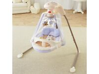 Fisher price starlight papasan cradle swing with ac adapter LIKE BRAND NEW IN BOX