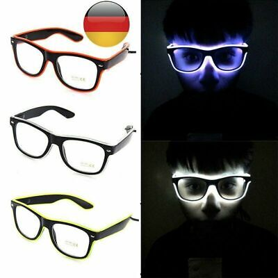 NEU LED Party Brille Sonnenbrille verschiedene Farben leuchten Rave Festival DE