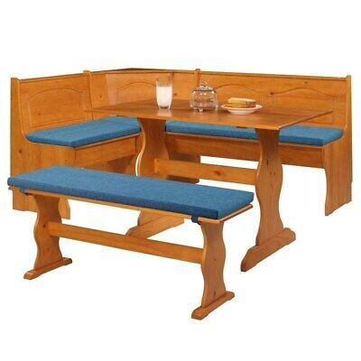 Kitchen Dining Corner Nook Blue Cushion Set Soft Breakfast Bench Table Furniture