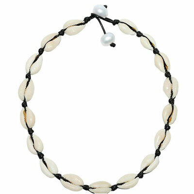 BOHO Shell Pendant Chain Choker Pearl Necklace Bracelet Drop Earring Jewelry ()
