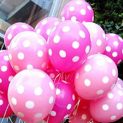 10X runde Helium Polka Dot Latexballons Geburtstag Party Hochzeit Dekoration  W0 (Polka Dot Latex-ballons)