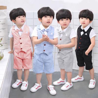 Festanzug Taufanzug Baby Junge Kinder Hochzeit Anzüge 4tlg Hochzeit und Feste