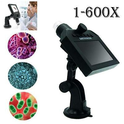 Digital Microscope 4.3 Hd Oled 3.6mp 1-600x Magnifier G600 Portable Lcd 1080p