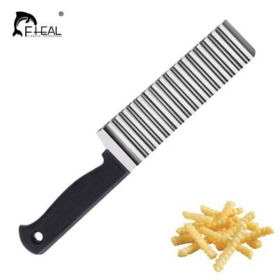 Stainless Wave Steel Potato Cutter Cooking Tool French Fry Potato Chip Waffle