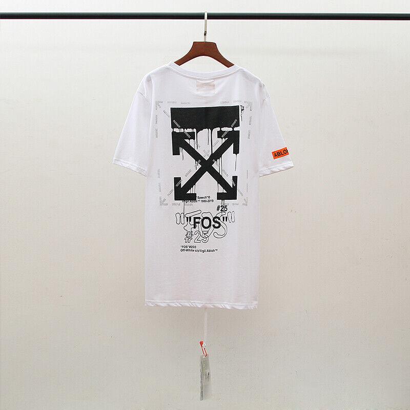 Unise 20SS OFF-WHITE C/O VIRGIL ABLOH T-Shirt 100 COTTON Crystal Arrow T-SHIRT  - $38.95