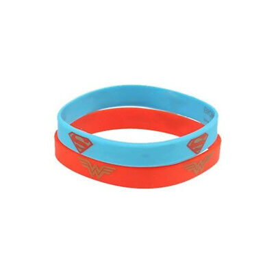 DC COMICS WONDER WOMAN SUPERMAN WRISTBAND COSTUME SILICONE POP CULTURE COUPLE