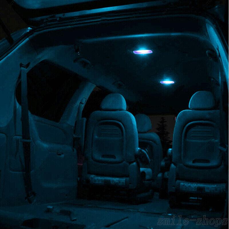 14pcs Ice Blue Interior LED Light Package Kit For 2014