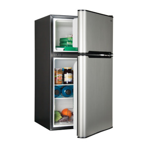 Haier Stainless Steel 3.3 Cu. Ft. Compact Refrigerator/Freezer