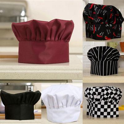 Comfortable Cook Adjustable Men Kitchen Baker Chef Elastic Cap Hat Catering - Chef Cap