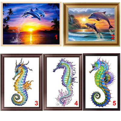 Horse Cross Stitch - Dolphin 5D Diamond Painting Sea Horse DIY Embroidery Cross Stitch Home Decor