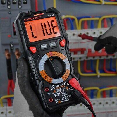Habotest 600v Automotive Multimeter Ht118d True Rms No Contact Voltage Detection