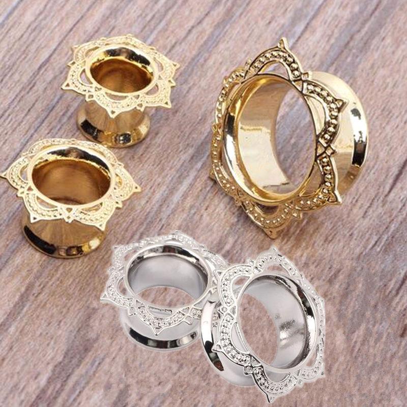 1 paire piercing oreille ecarteur cuivre dor expandeur ear plug tunnel unisexe ebay. Black Bedroom Furniture Sets. Home Design Ideas