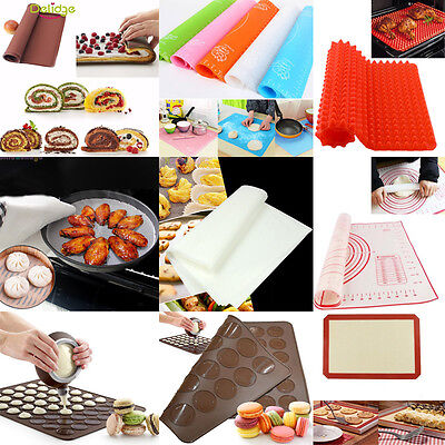 1x Bakeware Mat Silicone Mold Non-Stick Baking Sheet For Pastry Kitchen Tools