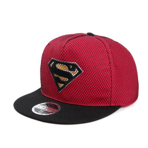 cool hip pop superman baseball embroidery mesh flat