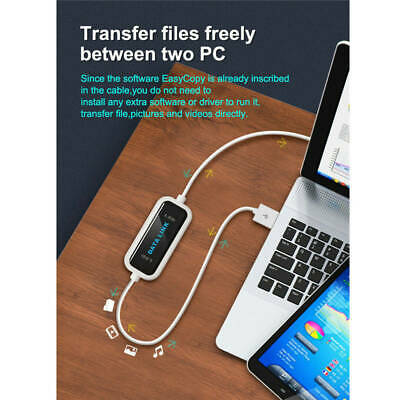 USB 2.0 Data Link PC To PC File Transfer High Speed LED...