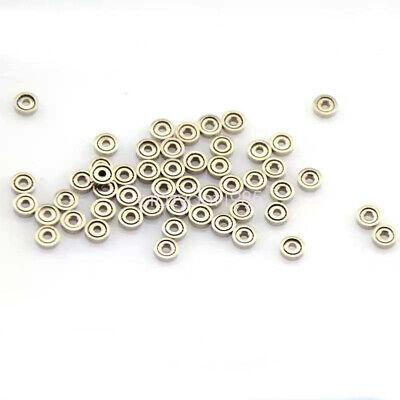 100pcs Lot 681xzz Micro Mini Deep Groove Double Shielded Ball Bearing Toy Ring