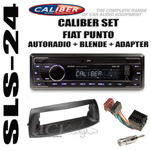 fiat punto autoradio radio usb sd iso adapter blende antenne adapter einbau set ebay. Black Bedroom Furniture Sets. Home Design Ideas