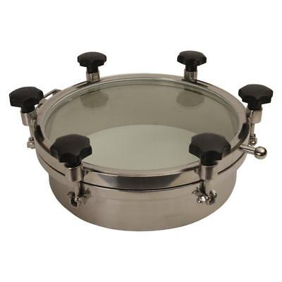Round Tank Manway 18 Inch Glass Top W 6 Handlesepdm - 2 Pack