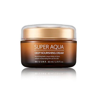 [MISSHA] Super Aqua Deep Nourishing Cream 80ml - BEST Korea (Best Deep Moisturizing Face Cream)