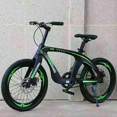 "20"" Kids Mountain Bike Green & Black magnesium alloy frame DOUBLE DISC Brake NEW"