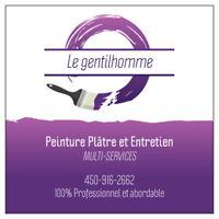 Béton Ciment Plâtre Peinture Entretien général.