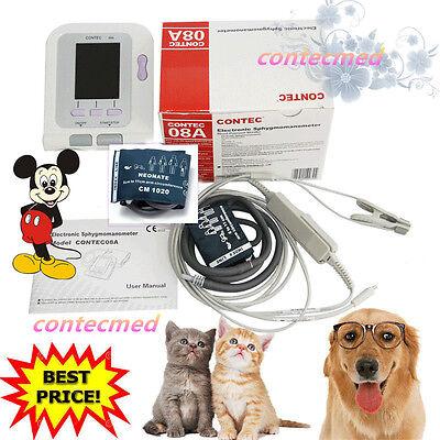 Veterinary Vet Blood Pressure Monitorvet Cuff 6-11cmeartongue Spo2 Probe Fda