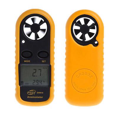 GM816 Digital Wind-Speed Backlight Airflow Gauge Meter Anemometer Thermometer