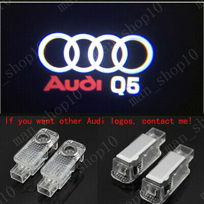 Audi Q5 Logo LED Laser Projector Car Door Welcome Ghost Courtesy Shadow Light HD