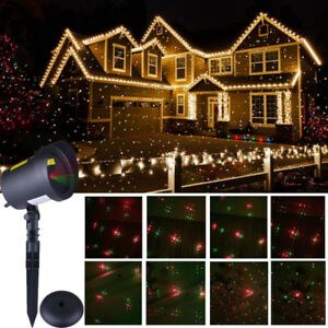 Laser Christmas Lights Green and Red Motion Star Laser Light