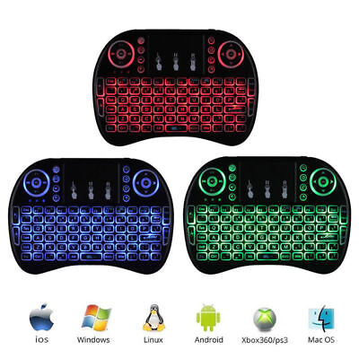 Mini i8 2.4GHz 3 Colors Backlit Wireless Keyboard Touchpad for PC TV Box Android (Mini Usb Touchpad)