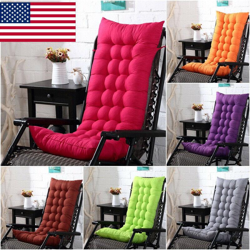 US Soft Chair Cushion Tufted Deck Chaise Padding Patio Pool