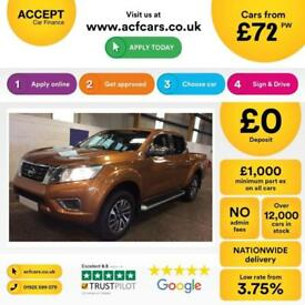 NISSAN NAVARA YELLOW CREWCAB PICK-UP 2.3 2.5 DCI N-CONNECTA FROM £72 PER WEEK!