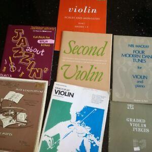 7 VIOLIN music books