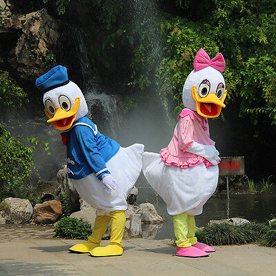 Donald and Daisy Duck Adult Mascot Costume Party Clothing Fancy Dress Hot - Donald Duck And Daisy Costumes