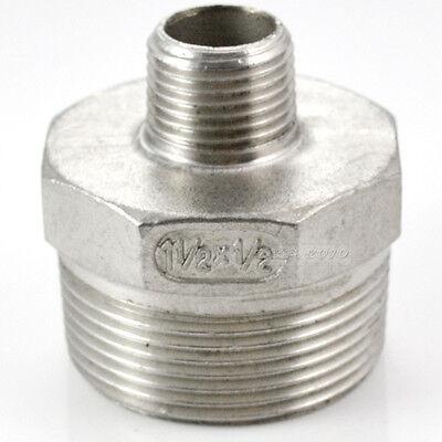 1-12 X 12 Male Reducer Hex Screwed Nipple Npt Thread 304 Stainless Steel Us