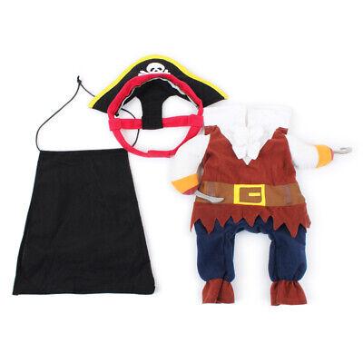 Haustier Hund Katze Piraten Design Anzug Kostüm Welpen Halloween Geschenk