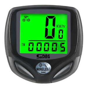 Bike Computer, Wireless Waterproof Bicycle Speedometer and Odome