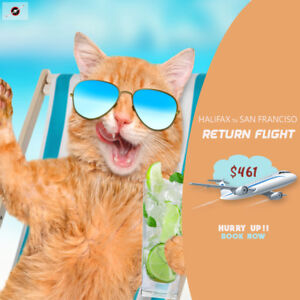 Book your Return flight from Halifax - San Francisco $461