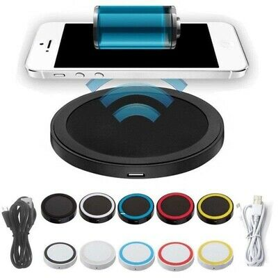 Chargeur Sans Fil Induction Qi Pour iPhone 6 Plus/6/5S/5C/5/4S/4 + adaptateur