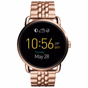 Fossil Q Wander StainlessSteel Smartwatch-Rose Gold-NEW IN BOX