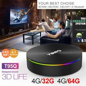 2019! DDR4 T95Q PRO 4/32 64GB ANDROID 8 TV BOX DUAL WIFI BT KODI APPS Hallam Casey Area Preview
