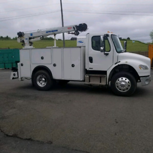 Frieghtliner M2 service truck with crane