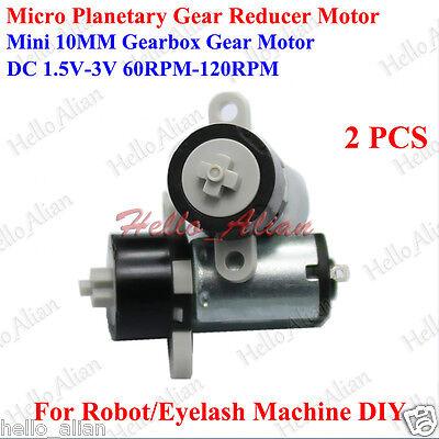 2pcs Dc 3v 120rpm 10mm Micro Mini Coreless Motor Planetary Gear Motor Toy Lock