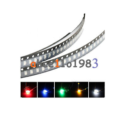 1206 Smd Smt Led Red Green Blue Yellow White 5 Colours Light Super Bright Led