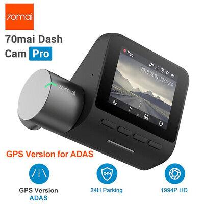 Xiaomi 70mai Dash Cam Pro English Voice Control 1944P Car DVR Camera GPS ADAS