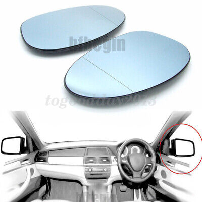 Passenger Blue Heated Electric Wing Door Mirror Glass for BMW Z4 2002-2008