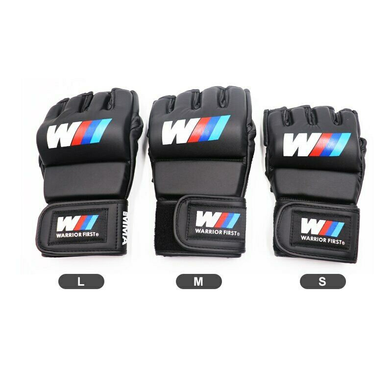 как выглядит Microfiber PU Kickboxing MMA Boxing Muay Thai Gloves Fight Mittens Open Fingers фото