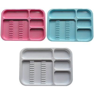 Dental Separate Autoclavable Instrument Trays 10 Drilled Holes Divided 5 Colors